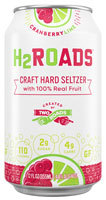H2Roads Cranberry and Lime Hard Seltzer