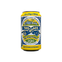 Two Roads Ol Factory Pils Cans